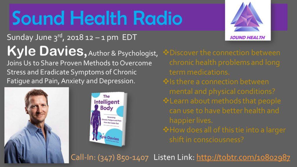 Kyle Davies appearance on Sound Health Radio flyer
