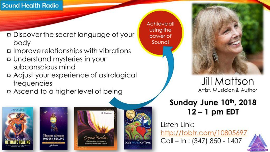 Jill Mattson appearance on Sound Health Radio flyer