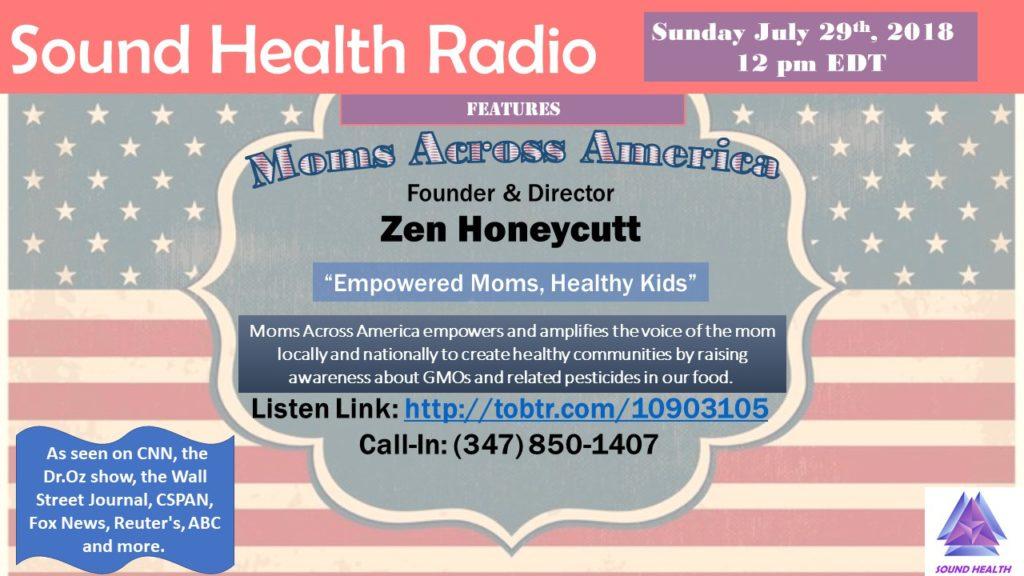 Zen Honeycutt appearance on Sound Health Radio flyer