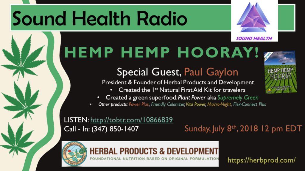 Paul Gaylon appearance on Sound Health Radio flyer