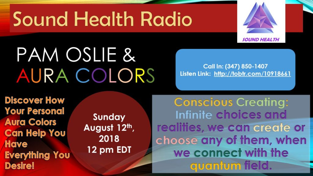 Pam Oslie appearance on Sound Health Radio flyer