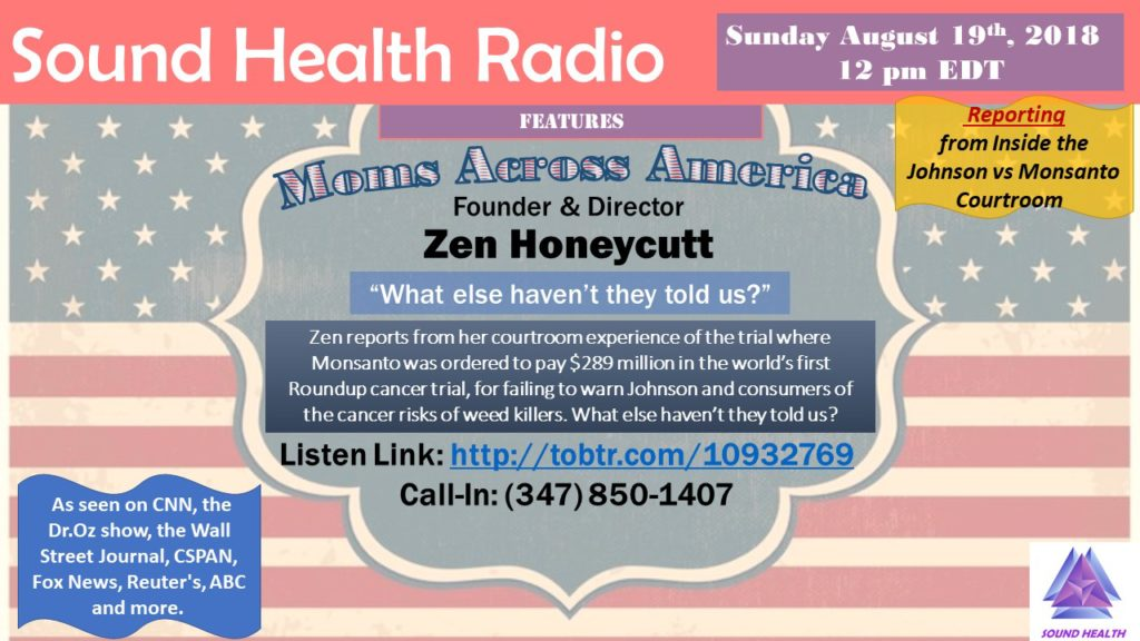 Zen Honeycutt appearance on Sound Health Radio flyer 2