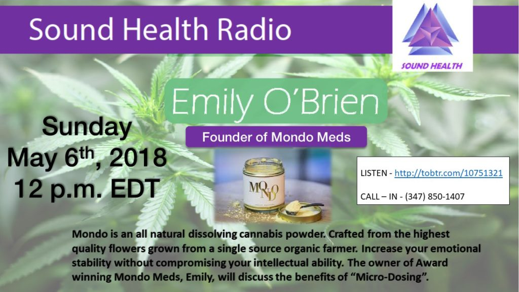 Emily O'Brien appearance on Sound Health Radio