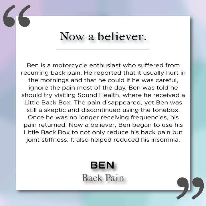 Sound Health Profile of Ben