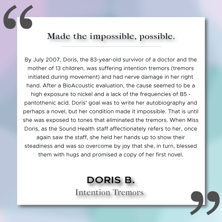 Sound Health Profile of Doris B.
