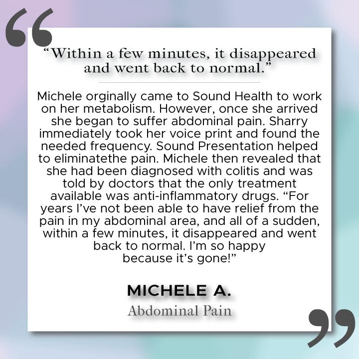 Sound Health Profile of Michele A.
