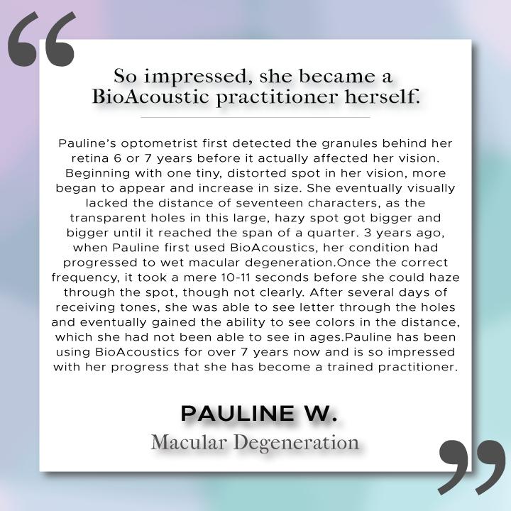Sound Health Profile of Pauline W.