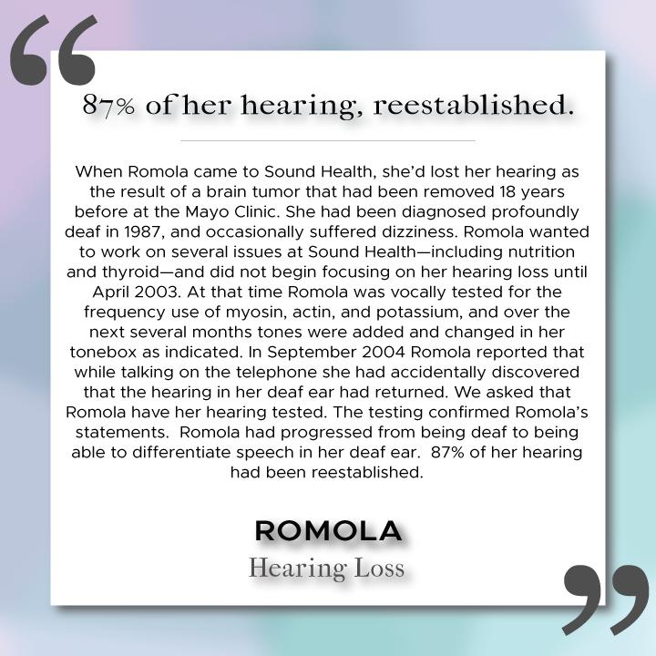 Sound Health Profile of Romola