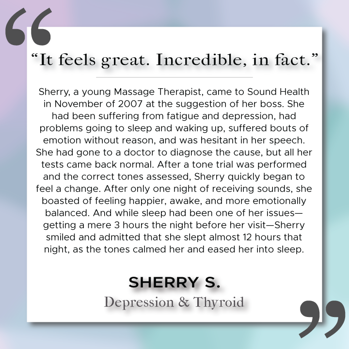 Sound Health Profile of Sherry S.