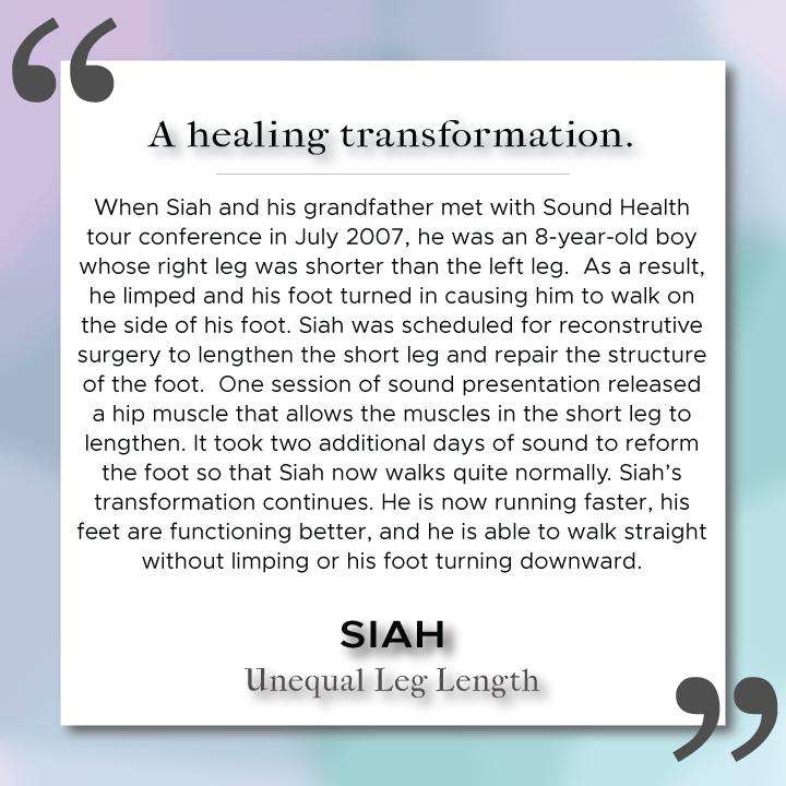 Sound Health Profile of Siah