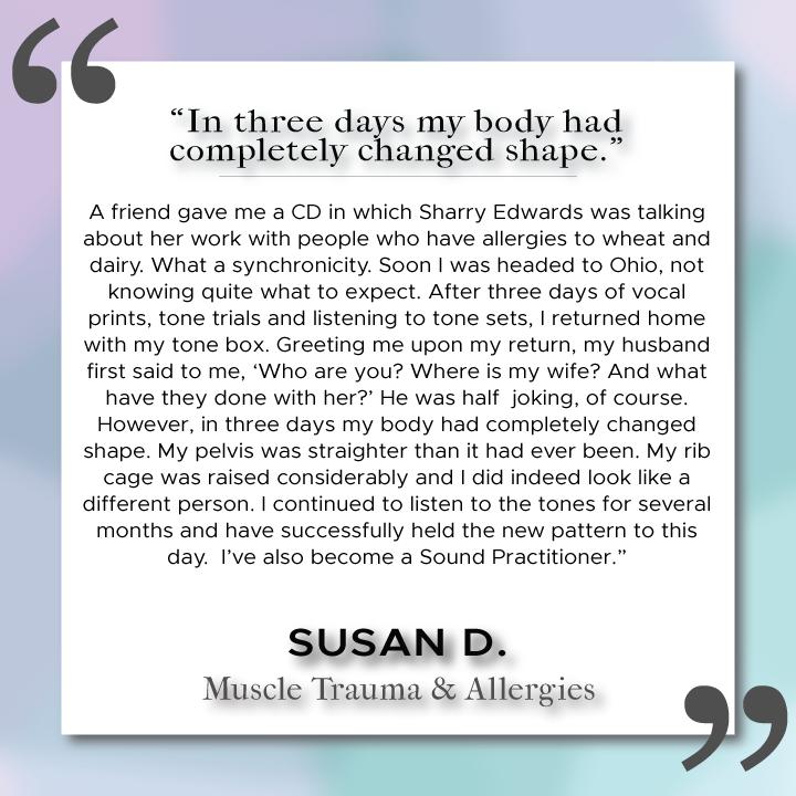 Sound Health Profile of Susan D.