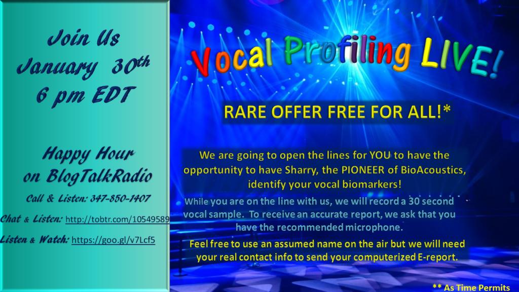 Vocal Profiling Live flyer