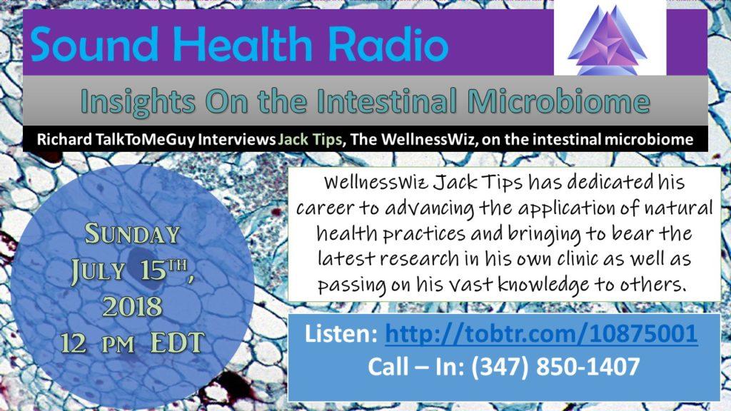 Jack Tips appearance on Sound Health Radio flyer