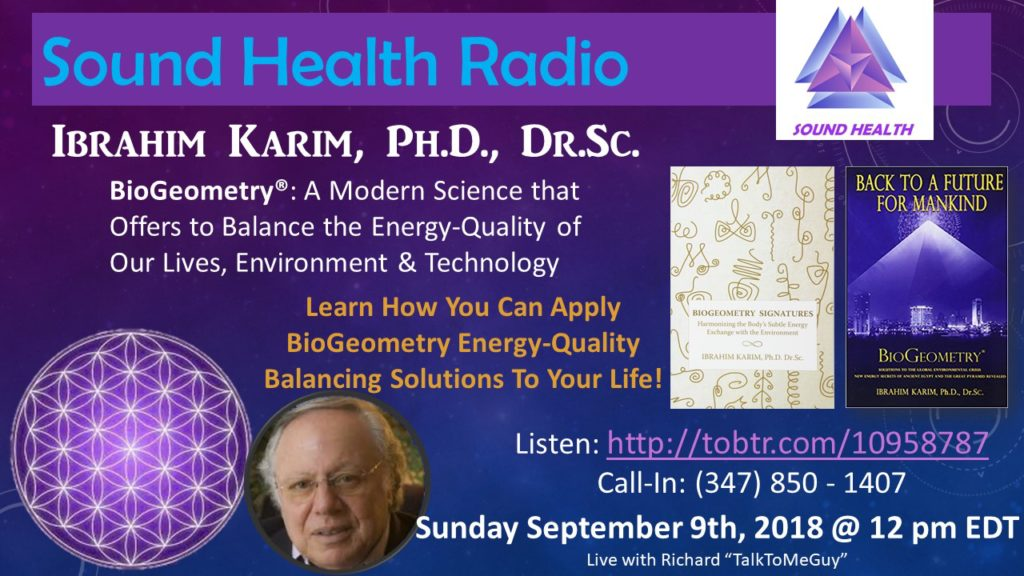 Flyer on Ibrahim Karim's appearance on Sound Health Radio http://tobtr.com/10958787